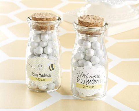 "Kate's ""Sweet as Can Bee"" Personalized Milk Jar (Set of 12)-Jubilee Favors"
