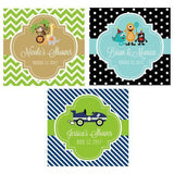 "Kid's Birthday 2"" Personalized Square Favor Labels & Tags-Jubilee Favors"