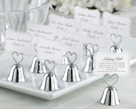 """Kissing Bell"" Place Card/Photo Holder (Set of 24)-Jubilee Favors"