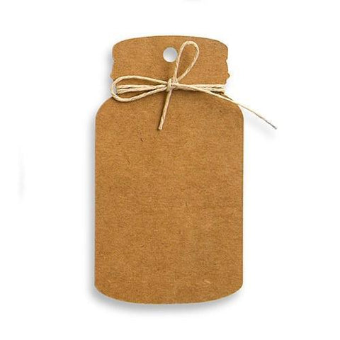 Kraft Paper Mason Jar Favor Tag With Twine-Jubilee Favors