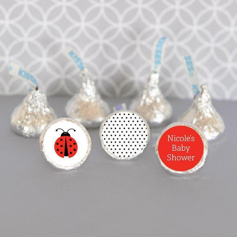 Ladybug Hershey's® Personalized Kisses Labels Trio (Set of 108)-Jubilee Favors