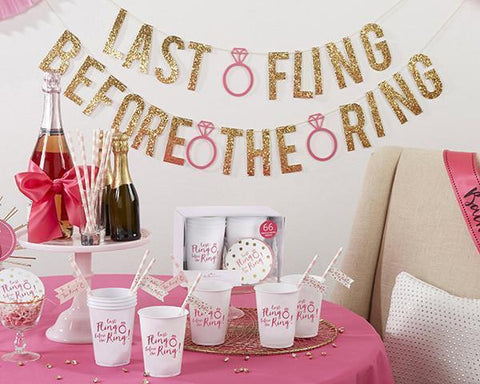 Last Fling Before the Ring 66 Piece Bachelorette Party Kit-Jubilee Favors