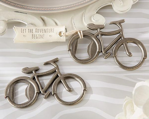 """Let's Go On an Adventure"" Bicycle Bottle Opener-Jubilee Favors"