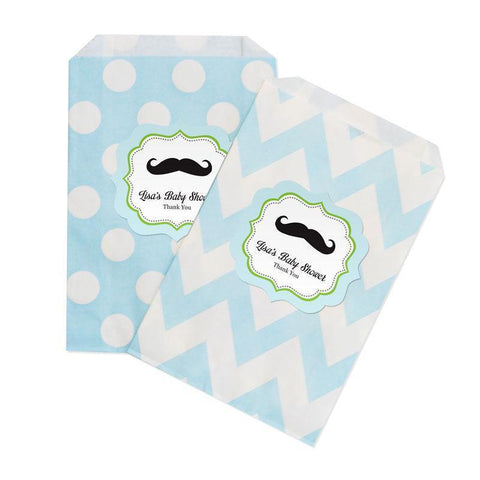 Little Man Chevron & Dots Goodie Bags (set of 12)-Jubilee Favors
