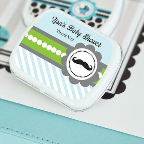 Little Man Party Personalized Mint Tins-Jubilee Favors