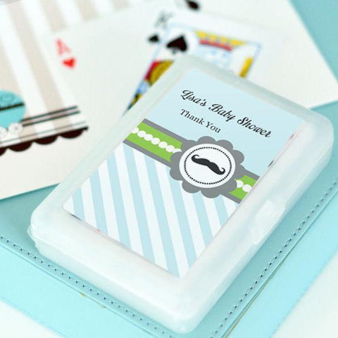 Little Man Party Personalized Playing Cards-Jubilee Favors