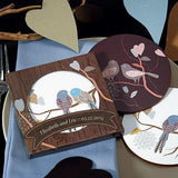 Love Birds Coaster Set Favor In Gift Packaging-Jubilee Favors
