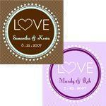 """Love"" Personalized Tags & Labels (set of 20)-Jubilee Favors"