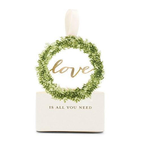 Love Wreath Favor Box With Ribbon (set of 10)-Jubilee Favors