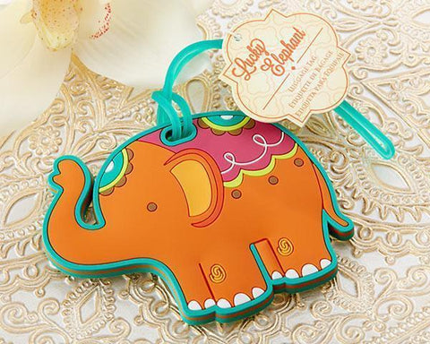 """Lucky Elephant"" Luggage Tag-Jubilee Favors"