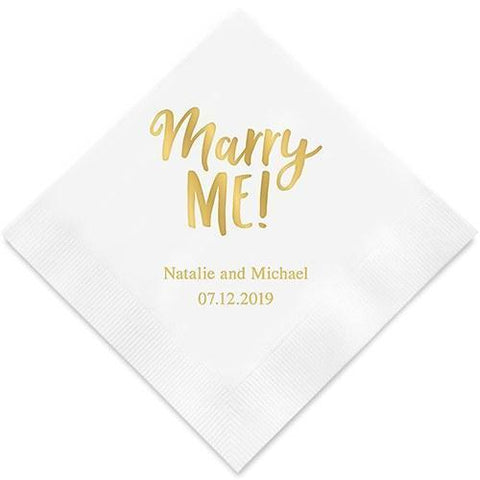 Marry Me! Printed Paper Napkins-Jubilee Favors