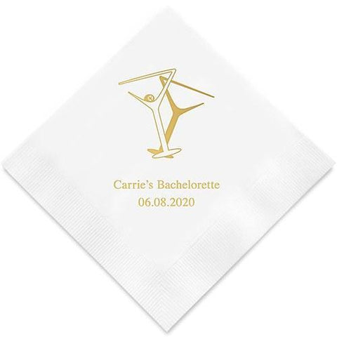 Martini Glasses Printed Paper Napkins-Jubilee Favors