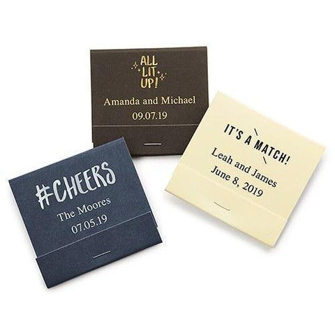 Matchbook Personalized Wedding Favors (Set of 50)-Jubilee Favors