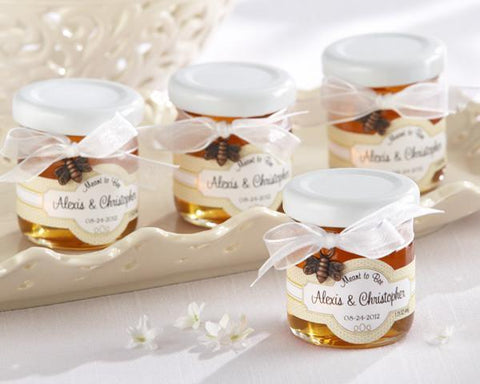 """Meant to Bee"" Personalized Clover Honey (Set of 12)-Jubilee Favors"