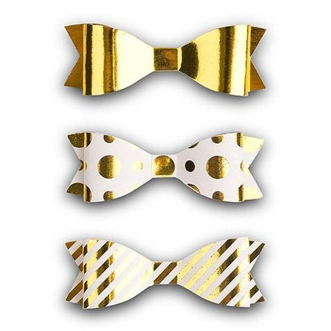 Medium Assorted Metallic Gold Paper Bows-Jubilee Favors