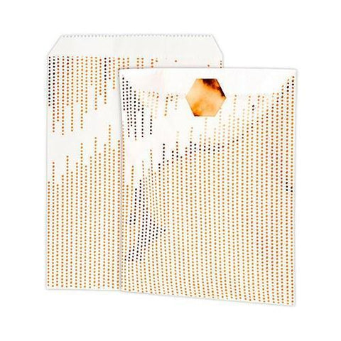 Metallic Copper Dots Paper Treat Bags With Sticker-Jubilee Favors