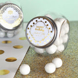 Metallic Foil Personalized Candy Jars - Birthday-Jubilee Favors