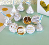 Metallic Foil Personalized Hershey's Kisses Labels Trio (Set of 108) - Birthday-Jubilee Favors