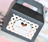 Metallic Foil Personalized Mini Gable Boxes (set of 12) - Wedding-Jubilee Favors