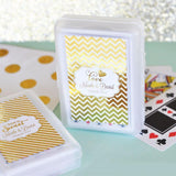 Metallic Foil Personalized Playing Cards - Wedding-Jubilee Favors