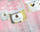 Metallic Foil Personalized Water Bottle Labels - Wedding-Jubilee Favors