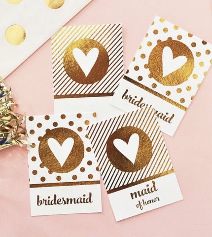 Metallic Gold Foil Gift Tags (set of 8)-Jubilee Favors