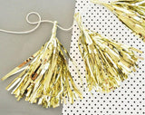 Metallic Mini Tassels (set of 6)-Jubilee Favors
