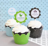 MOD Baby Cupcake Wrappers & Cupcake Toppers (Set of 24)-Jubilee Favors