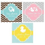 "MOD Baby Silhouette 2"" Personalized Square Favor Labels & Tags-Jubilee Favors"