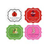 MOD Kid's Birthday Personalized Frame Labels-Jubilee Favors