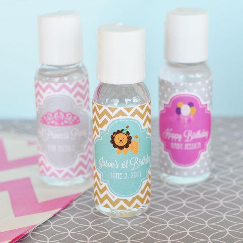 MOD Kid's Birthday Personalized Hand Sanitizer-Jubilee Favors