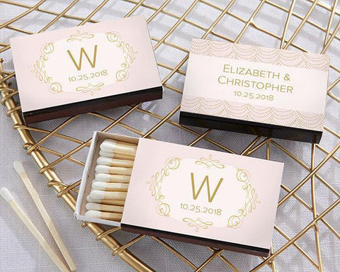 Modern Romance Personalized Black Matchboxes (Set of 50) for $ 38.99 at Jubilee Favors
