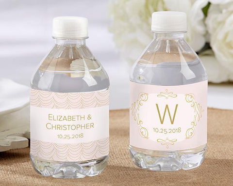 Modern Romance Personalized Water Bottle Labels-Jubilee Favors