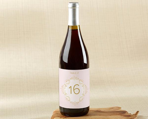 Modern Romance Wine Label Table Numbers (1-20)-Jubilee Favors