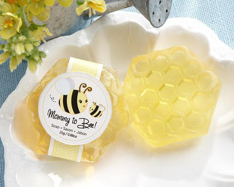 """Mommy To Bee"" Honey-Scented Honeycomb Soap-Jubilee Favors"