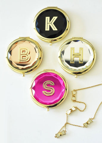 Monogram Compact Mirrors-Jubilee Favors