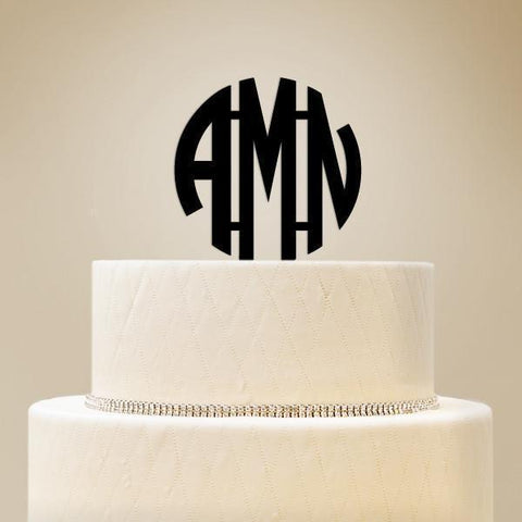 Monogram Initials Personalized Cake Topper-Jubilee Favors