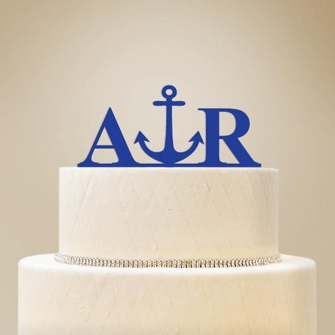 Monogram Initials with Icon Cake Topper-Jubilee Favors