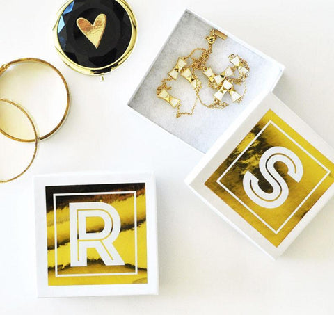 Monogram Jewelry Gift Boxes (Set of 6)-Jubilee Favors