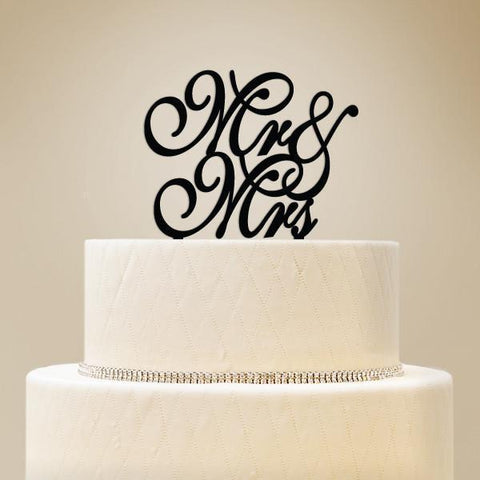 Mr & Mrs Script Wedding Cake Topper-Jubilee Favors