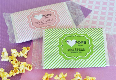 """My Heart POPS for You"" Microwave Popcorn Bags-Jubilee Favors"