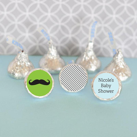 My Little Man Personalized Hershey's® Kisses Labels Trio (Set of 108)-Jubilee Favors