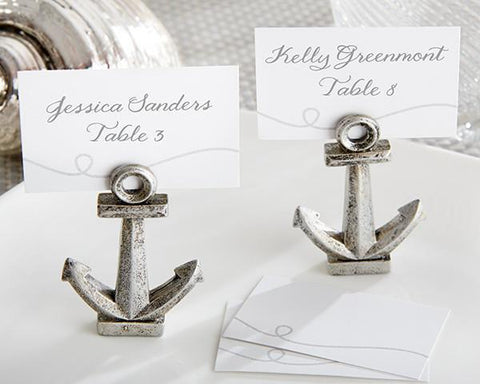 """Nautical"" Anchor Place Card/Photo Holder (Set of 6)-Jubilee Favors"