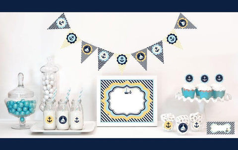 Nautical Baby Shower Decorations Starter Kit-Jubilee Favors