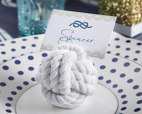 Nautical Cotton Rope Place Card Holder (Set of 6)-Jubilee Favors