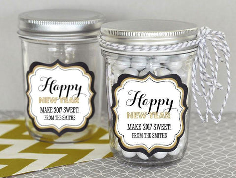New Years Eve Party Personalized Mini Mason Jars-Jubilee Favors