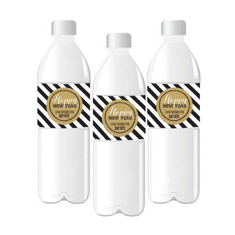 New Years Eve Party Personalized Water Bottle Labels-Jubilee Favors
