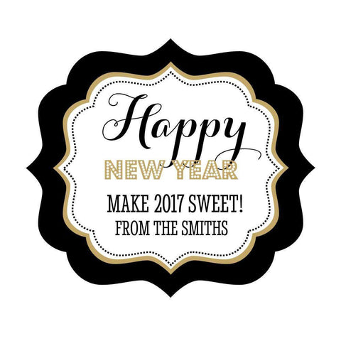 New Years Eve Personalized Party Frame Labels-Jubilee Favors