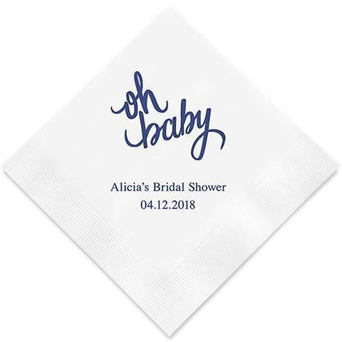 Oh Baby, Printed Paper Napkins-Jubilee Favors