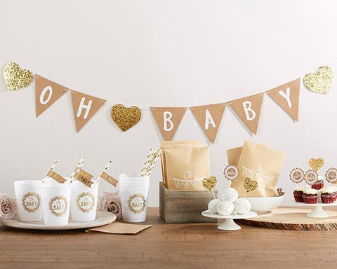 Oh Baby Rustic 73 Piece Baby Shower Kit-Jubilee Favors